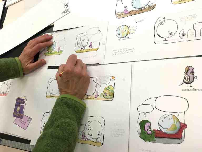 Drawing cartoons clores